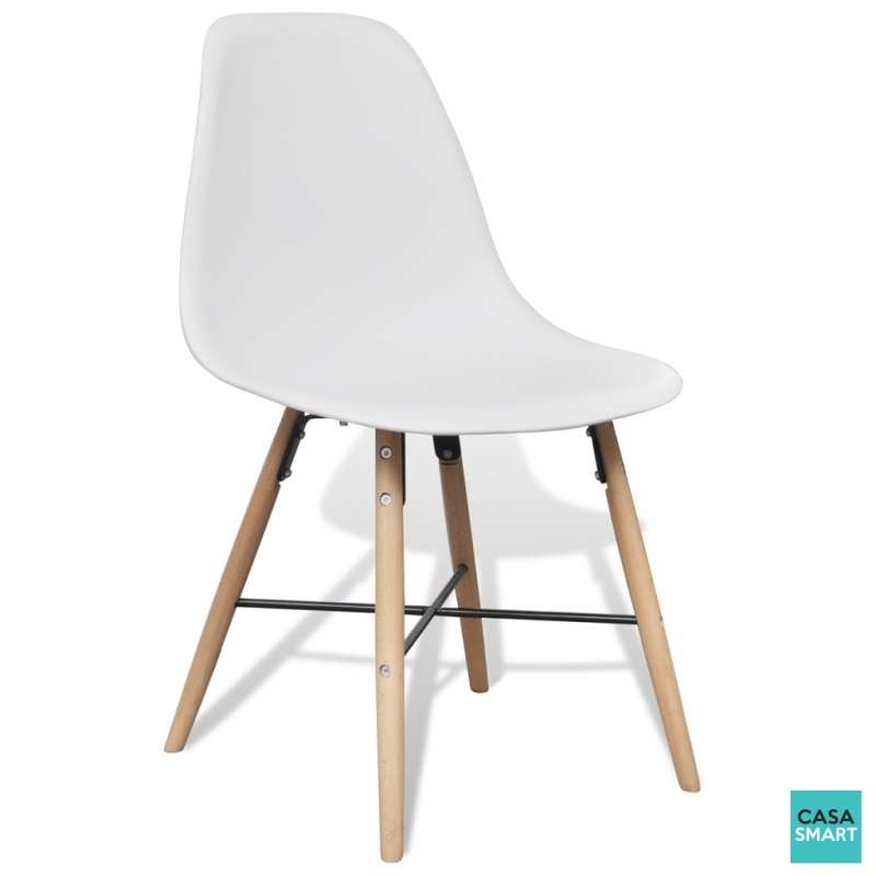 ensemble lovy table ronde 4 chaises blanches. Black Bedroom Furniture Sets. Home Design Ideas