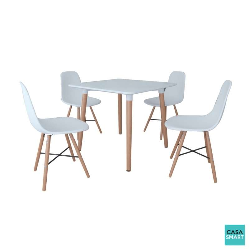 Table et chaises blanches maison design for Table et chaise blanche
