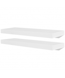 Lot de 2 étagères rectangulaire murales blanc CS2421831