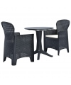 Ensemble de bistro 3x Plastique Anthracite - CS2761731